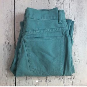 Vintage aqua blue/green high waist jeans size 10